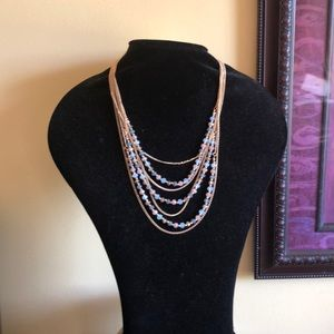 Jewelry - Elegant multi strand necklace & earrings set